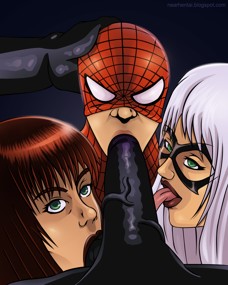 Spider man and black cat hentai