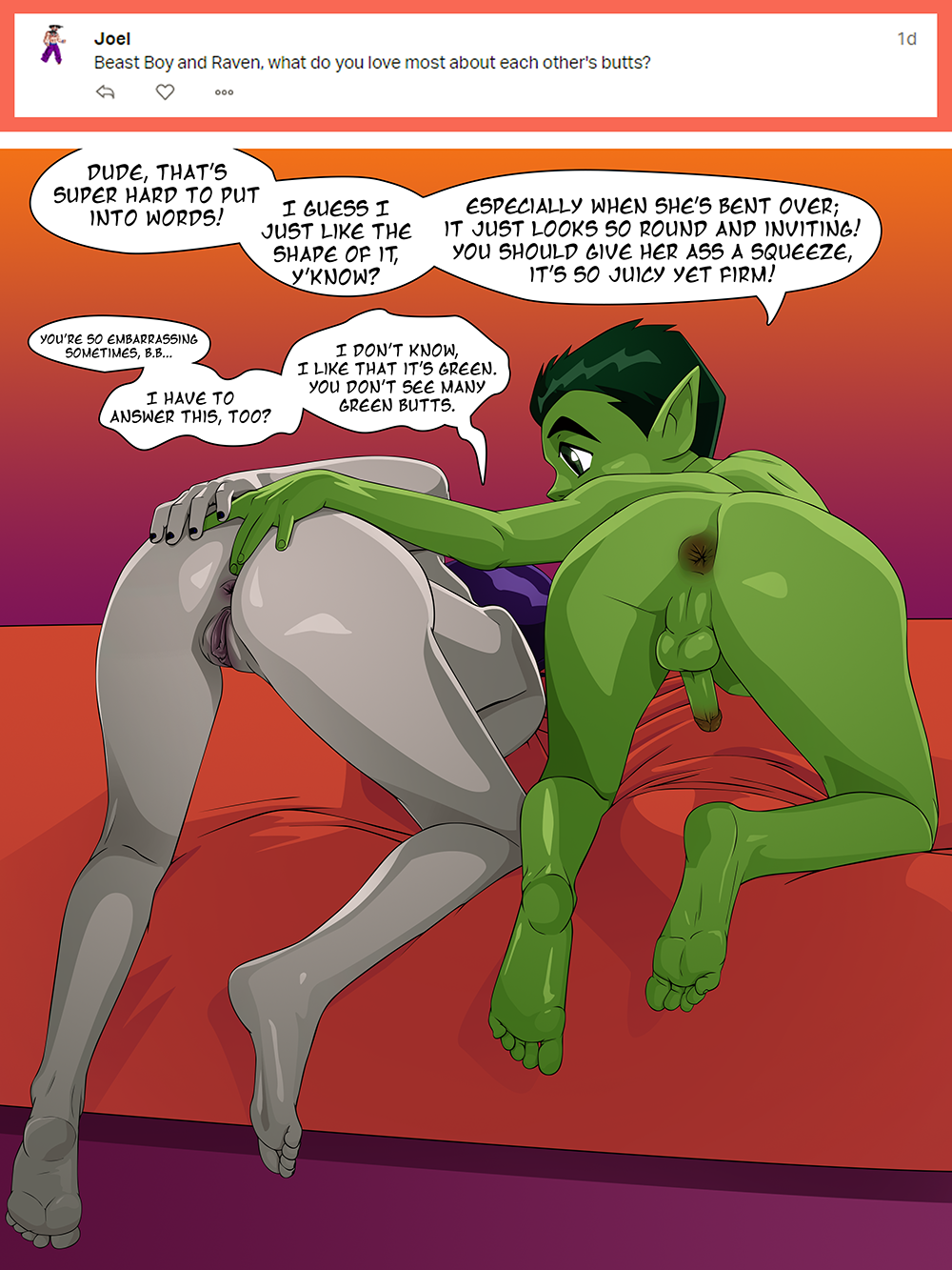 Beast Boy X Raven Hentai